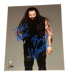 WWE BRAY WYATT HAND SIGNED AUTOGRAPHED 8X10 PHOTO FILE PHOTO WITH COA IM HERE 1