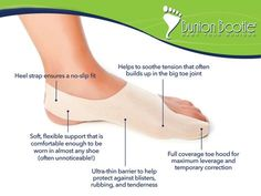 Looking for a way to end bunion pain? Try Bunion Bootie to relieve bunion pain almost instantly, and protect it from future irritation, swelling, and pain.