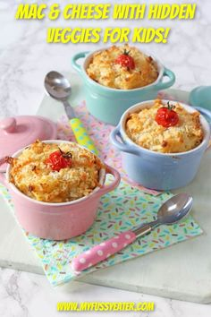 """Macaroni Cheese is definitely up there in my top """"go-to"""" family dinners. My kids and husband love it, it's easy to make and I nearly always have the ingredients in my store cupboard and fridge to whip it up on busy days. I've updated my classic mac and cheese recipe with this healthier veggie-packed version! The kids absolutely loved it and they had no idea of my secret hidden vegetable ingredient! #macandcheese #hiddenveggiesforkids #easymealsforkids #familydinnerideas Kids Mac And Cheese Recipe, Pasta Recipes For Kids, Vegetarian Meals For Kids, Easy Family Meals, Healthy Meals For Kids, Cheese Recipes, Baby Food Recipes, Kids Meals, Toddler Recipes"""
