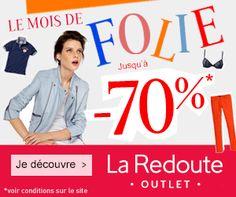 #CouponPromo Le mois de Folie jusqu'à -70% chez La Redoute Outlet http://www.coupon-promo.fr/reduction-La-Redoute-Outlet-i255.html