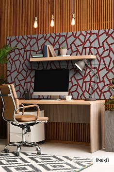 Our Decorative Acoustic Wall Tiles are procured in sets of eight 597mm x 597mm tiles, so one set is the perfect fit for a small home office setup. #walltiles #walltilesdesign #acoustictiles #acousticdesign #acousticwall #interiors #interiordesign #interiordesigner #architecture #officeinteriors #interioracoustics #acousticsolutions #acousticdesign #design #officedesign #architects #architecturedesign #architexture #officedesign #workspace #sustainableinteriors#soundabsorption… Acoustic Design, Acoustic Wall, Wall Tiles Design, Home Office Setup, Office Interiors, Architects, Perfect Fit, Architecture Design, Interior Design