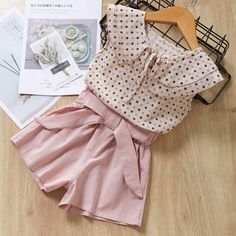 Casual Girls Clothing Sets Summer Kids Floral T-shirt Shorts Suit Clothes Outfit Dresses Kids Girl, Kids Outfits Girls, Girl Outfits, Baby Dresses, Modest Summer Outfits, Casual Outfits, Cute Outfits, Bow Shorts, T Shirt And Shorts