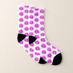 Kiss Me Patterned Socks