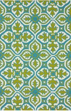 Click above image to enlarge  Rug Pad Rugs USA Hacienda Farida Outdoor Lime Rug Item #: 200HJAIR8A-P
