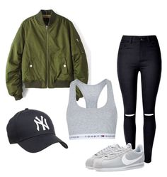 """One of the boys"" by jewel-mt on Polyvore featuring WithChic, NIKE and Topshop"