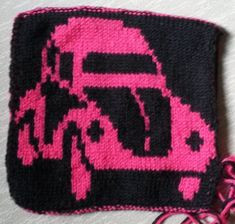 Ravelry: DF-Topflappen VW Käfer pattern by maku flo Ravelry, Vw, Crochet Patterns, Beanie, Knitting, Hats, Toss Pillows, Tutorials, Breien