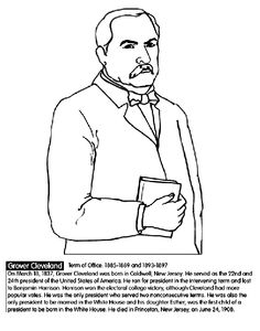 us president grover cleveland coloring page
