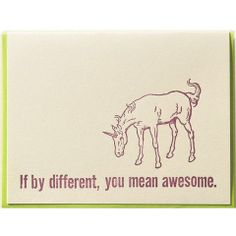 Card - Different Awesome