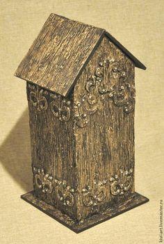 Купить Чайный домик в стиле шале - деревянный, чайный домик, домик чайных пакетиков