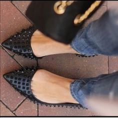I just discovered this while shopping on Poshmark: Zara rare spike black dorsay flats sz 38. Check it out! Price: $95 Size: 8, listed by kaynlexie