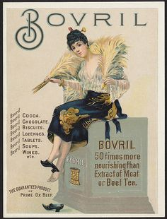 Bovril, 50 times more nourishing than extract of meat or beef tea. [front] | Flickr - Photo Sharing!