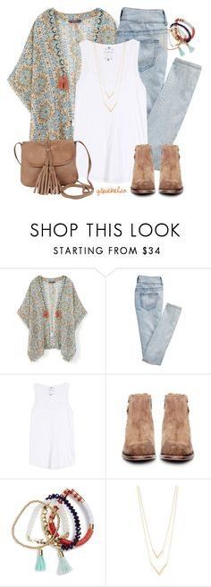 """""""Tassels, Not Hassles"""" by qtpiekelso ❤ liked on Polyvore featuring MANGO, maurices, Velvet, H by Hudson, BaubleBar, Jennifer Zeuner and Day & Mood"""