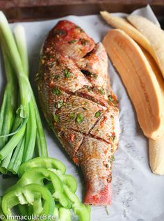 Caribbean Grilled Whole Red Snapper. Caribbean Grill Whole Red Snapper. Caribbean Grilled Whole Red Snapper- Fairly Easy to make with a great blend of spice- Moist, tender and flavorful. Whole Fish Recipes, Grilled Fish Recipes, Salmon Recipes, Grilling Recipes, Cooking Recipes, Whole Red Snapper Recipes, Fish Recipes Snapper, Cooking Games, Cooking Classes