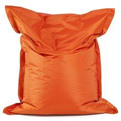 Kendall Large Beanbag Orange in Polyester with PVC Coating White Coat Hooks, Orange, Large Bean Bags, Kokoon Design, Pvc Coat, Cool Store, Floor Cushions, Kendall, Chic