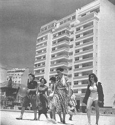 Fotos antigas do Rio de Janeiro - Praia de Copacabana - Anos 40