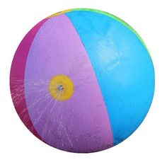 [Visit to Buy] 75CM Inflatable Water Spray Ball Outdoor Fun Hot Toys Swimming Party Favors Children Summer Favorite Water Playing Inflated Toy #Advertisement