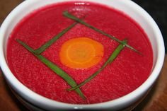 Sopa crema de Remolacha y zanahorias Going Vegan, Granola, Veggies, Orange, Fruit, Eat, Cooking, Breakfast, Recipes
