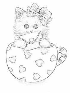 coloring pages teacup - photo#15
