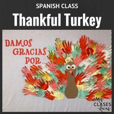 Lista lunes - Thanksgiving in Spanish class