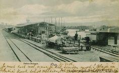 Station Belawan in Deli, Noord Sumatera ca 1906