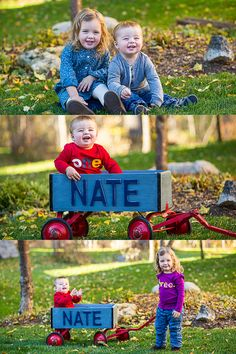 De Jonge Fall Family Shoot | London, Ontario by Roman Hidalgo Photography #oneyearold #wagon