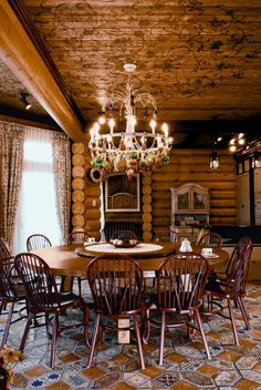 Russian-Siberian House Design, Fairy Tales Dream Homes – Dining room