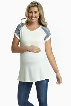 White-Embroidered-Crochet-Shoulder-Maternity-Top