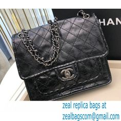 Chanel Vintage Messenger Bag Black 2021