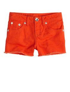 Girls Clothing | Shorties 2½ Inseam | Colorful Fray Hem Denim Short | Shop Justice