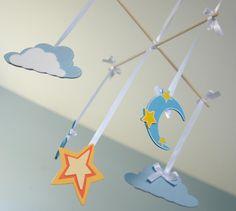 Nursery Mobile- Moon, star, & clouds