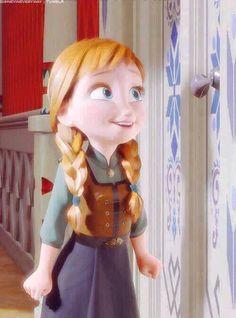 """Anna qui chante """"Je voudrais un bonhomme de neige """" <3"""