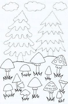 Klikněte pro detailní zobrazení Coloring Pages For Kids, Homeschooling, Kindergarten, Crafts For Kids, Education, Autumn, Painted Pebbles, Woodland Animals, Crafts For Children