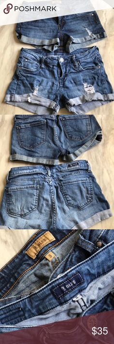 Bundle of 2 STS blue shorts Perfect condition set of two shorts. One in a light wash and the other in a dark wash. Waist measures 13 in. STS Blue Shorts Jean Shorts