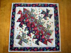Quilted Christmas Lil Twister Tablerunner/Mini Quilt