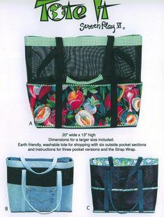 Mesh Beach Bag Pattern | Tote It Pattern by Nancy Ota