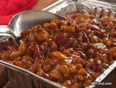 Hillbilly Baked Beans {Slow Cooker} Nothing is more down-home than the wonderful flavors of backwoods country cooking, so it's only fitting that these Hillbilly Baked Beans are one of our most popular slow cooker potluck recipes. They can even be reheated on a grill for a smoky taste that can't be beat!