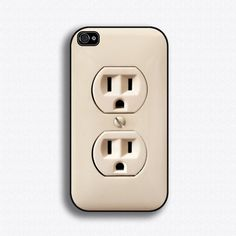 $17.99 Plug Outlet iPhone 4 Case  by iCaseSeraSera