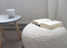 Was Ist Ein Pouf design strick pouf leeds coffee 80cm hocker baumwolle in