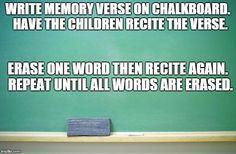 Memory Verse Game Memory Verse Games, Kids Programs, Scripture Memorization, Sunday School Kids, Youth Games, Youth Leader, Children Church, Bible Activities, Spelling And Grammar