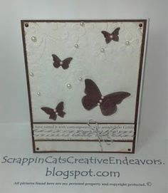 Beautiful use of pearls to bring out embossing!