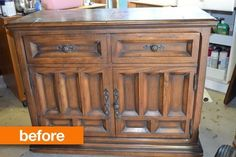 Before & After: A Thrift Store Cabinet Goes Glam