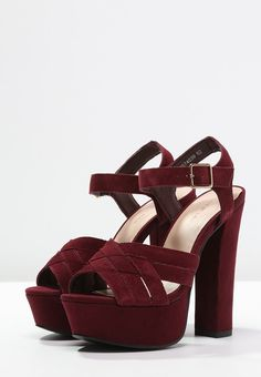 New Look TRUCK - Sandalias con plataforma - deep red - Zalando.es