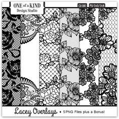 Lacey Overlays  | CU/Commercial Use #digital #scrapbook #design tools at CUDigitals.com #digitalscrapbooking