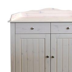 Babycommode Karlotta - massief grenenhout/white wash