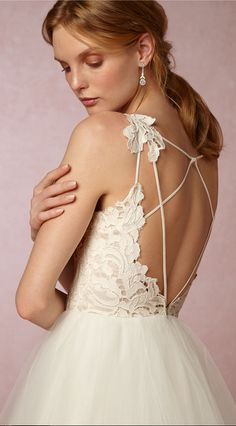 Strappy diamond back Haley Paige Gown