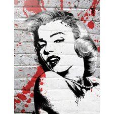 'Marilyn Monroe' by Banksy Graphic Art Print on Wrapped Canvas