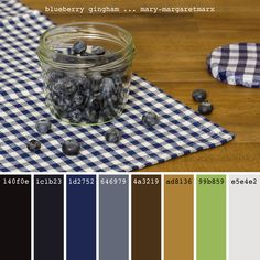 blueberry gingham ... mary-margaretmarx #color #colors #colour #colours #colorpalette #colorpalettes #colourpalette #colourpalettes #palette #palettes #paintpalette #paintpalettes #colorful #design #designinspiration #colorinspiration #colordesign #hexcode #blue #blueberry #blueberries #berry #berries #fruit #gingham #check #glass #jar #mmarx #marymargaretmarx Colour Combinations, Color Schemes, Nose Drawing, Design Art, Interior Design, Colour Board, Step By Step Drawing, Colour Palettes, Color Pallets