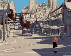 Visual Development for Big Hero 6 by japanese illustrator and Coraline concept artist: Tadahiro Uesugi. (Just imagine the entire San Fransokyo in his artstyle *stars in my eyes*) Environment Concept Art, Environment Design, Big Hero 6, Comic Tattoo, Emotional Photography, Japanese Drawings, Background Drawing, Matte Painting, Visual Development