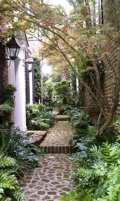Lovely brick walkway...
