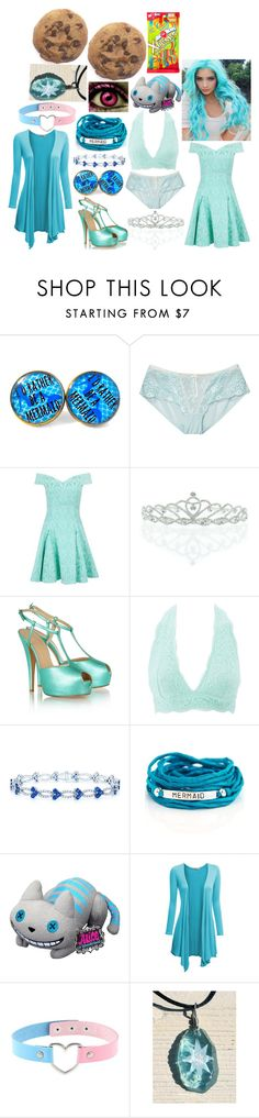 """Cotton"" by marythedemon ❤ liked on Polyvore featuring Heidi Klum Intimates, Closet, Kate Marie, Giuseppe Zanotti, Charlotte Russe, Blooming Lotus Jewelry, Funko and Doublju"